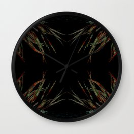 Sacred feathers geometry IV Wall Clock