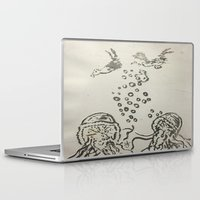 under the sea Laptop & iPad Skins featuring Under The Sea Sketch by ANoelleJay