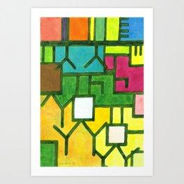 The Filling Line Art Print