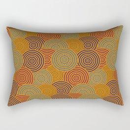 Desert Circles - Burnt Orange Rectangular Pillow