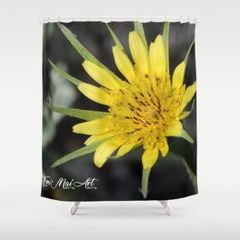 Yellow Salsify Shower Curtain
