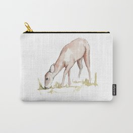 Deer Fawn Watercolor Painting Carry-All Pouch