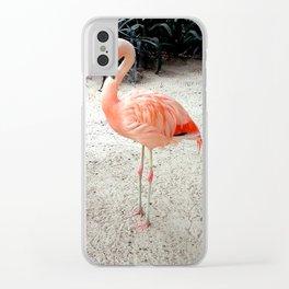 Flamingo Clear iPhone Case