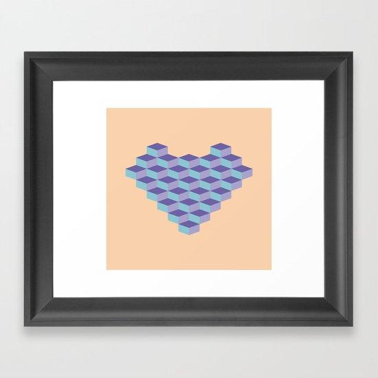 Blocs Framed Art Print