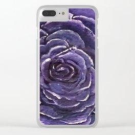 Purple Rose Close Clear iPhone Case