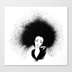 Inky Afro Canvas Print