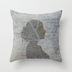 a natural silhouette, one  Throw Pillow