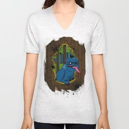 wolf at your door Unisex V-Neck