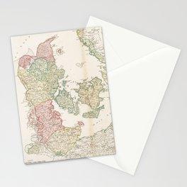 Vintage Map of Denmark (1750) Stationery Cards