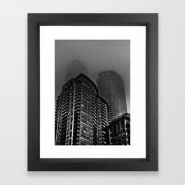 Downtown Toronto Fogfest No 22 Framed Art Print