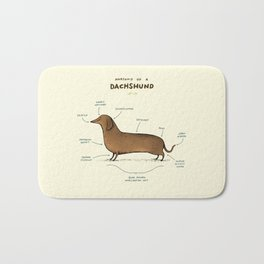 Anatomy of a Dachshund Bath Mat
