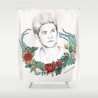 niall Shower Curtains featuring Niall  by Coconut Wishes