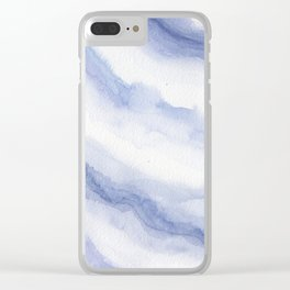 Periwinkle Waves Clear iPhone Case