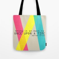 darren criss Tote Bags featuring Once Upon A Time - Darren Criss (Listen Up Tour) by Nephie