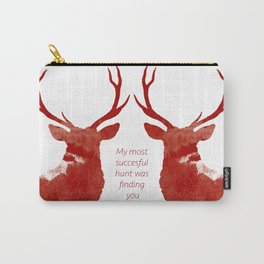 Valentine Stags Carry-All Pouch