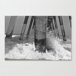 Pier View B/W Canvas Print
