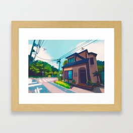 Blue's house - Kanto in real life Framed Art Print