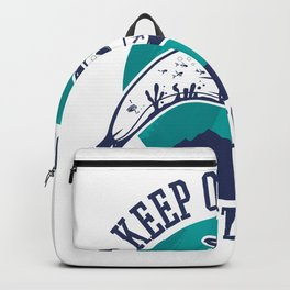 Keep the sea free of plastic saying Backpack