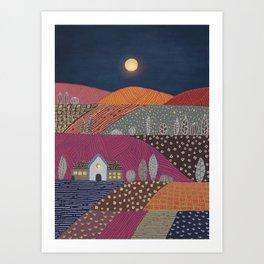 Midnight landscape II Art Print