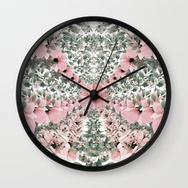 Spring watercolor flowers Wall Clock