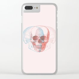 skull threesome Clear iPhone Case