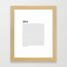 2014 BLACK HEARTS Framed Art Print