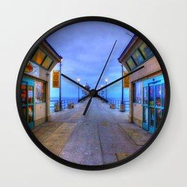 Before Dawn  * Huntington Beach Pier Wall Clock