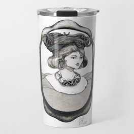 portrait of a woman and her adornment Travel Mug