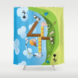 Fore of Clubs Shower Curtain