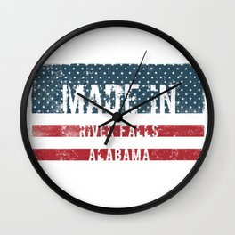 Made in River Falls, Alabama Wall Clock