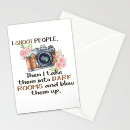 I Shoot People Funny Quote Stationery Cards