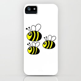 childishly Hand drawn bee iPhone Case