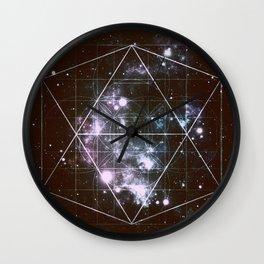 Galaxy Sacred Geometry dark Wall Clock