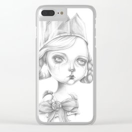 Beatrice in her party hat Clear iPhone Case