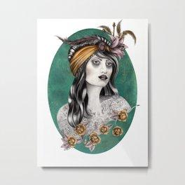 Gipsy tattoo girl Metal Print