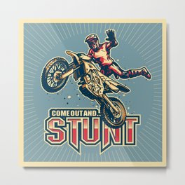 Motocross Come Out and Stunt Classic Metal Print