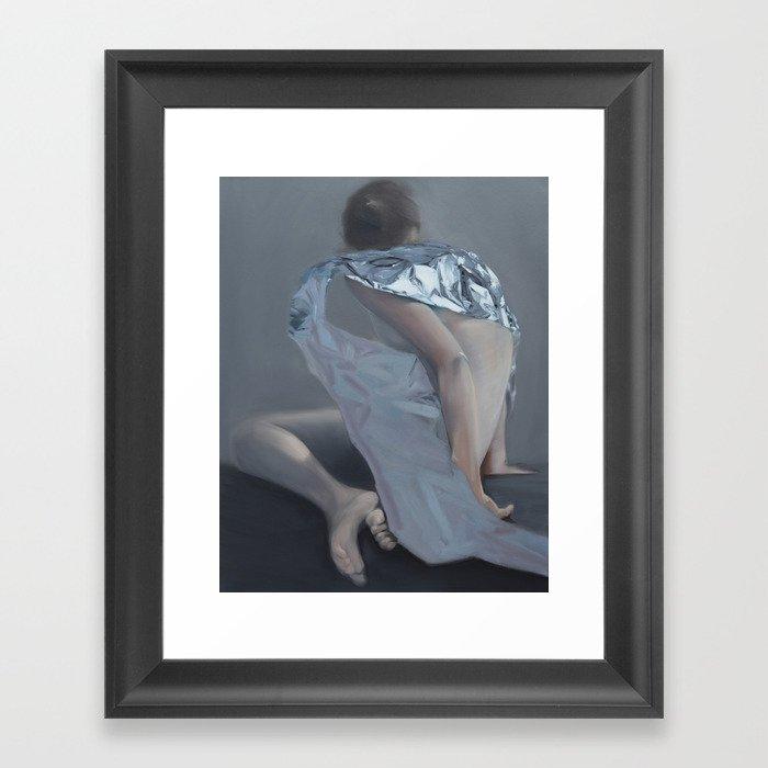 Untitled II. 2014 Oil on Canvas 70 x 90 cm Framed Art Print