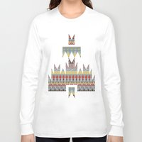 whisky Long Sleeve T-shirts featuring WHISKY AZTEC  by Kiley Victoria