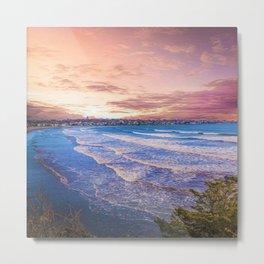First Beach - Cliff Walk Newport, Rhode Island Sunset Landscape Metal Print