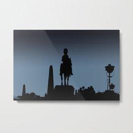 Edinburgh silhouette Metal Print