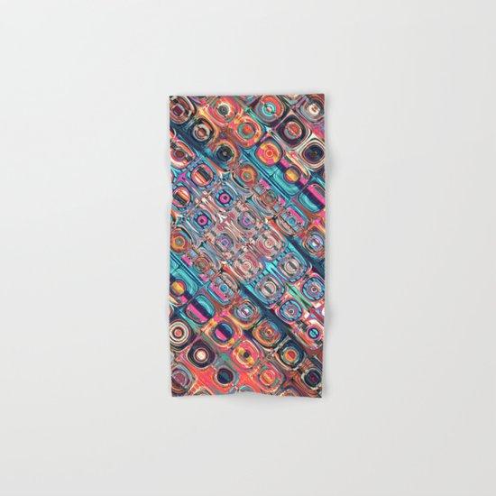 Colorful Circular Pattern Hand & Bath Towel