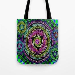Celtic Sphere Knotwork Tote Bag