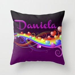 Daniela Hearts Throw Pillow