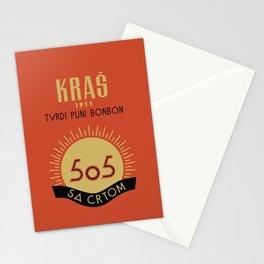 Glory to Yugoslavian design Stationery Cards
