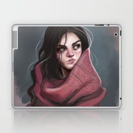 Wild Girl in the cold night Laptop & iPad Skin