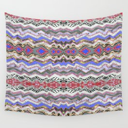 Red Violet Pink Rose Garden Aztec Wall Tapestry
