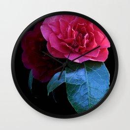 Pink Camellia  Wall Clock