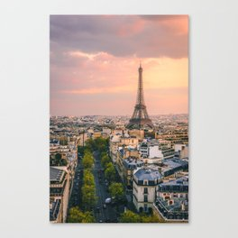 Sunset at Eiffel Tower (France) Canvas Print