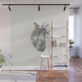 golden polygon heart Wall Mural