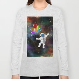 Astronaut with Balloons Long Sleeve T-shirt